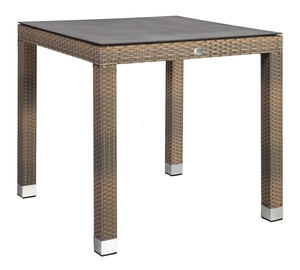 Home4you Larache Table w/ Glass Top Black/Grey