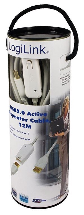 LogiLink Repeater Cable USB / USB White 12m