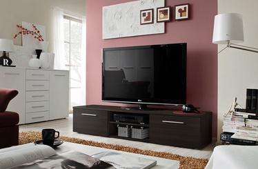 TV galds ASM Bono II, brūna, 1800x450x350 mm