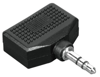 Hama Adapter Jack 3.5mm to Jack 3.5mm x2 Black