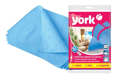 Universalus medvilninių šluosčių komplektas York, mėlyna, 5 vnt