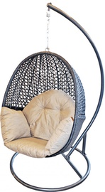 Diana Rattan Hanging Chair Beige/Brown