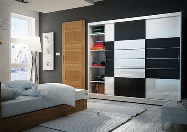 Stolar Aruba Wardrobe White/Black 250
