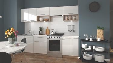 Кухонный гарнитур Halmar Viola, белый/дубовый, 2.6 м