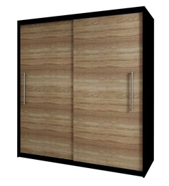 Idzczak Meble Rico 2D Wardrobe Black/Sonoma Oak