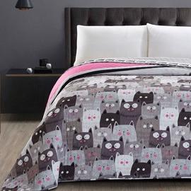 Gultas pārklājs DecoKing Cat Invasion, 220x200 cm