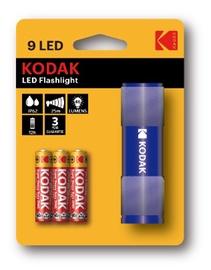 Rankinis LED žibintuvėlis KODAK, 46lm, 3XAAA, IP62, mėlynas