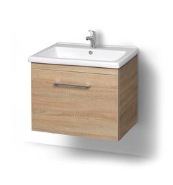 Pakabinama vonios spintelė su praustuvu Riva SA 60C-2, Sonoma Oak