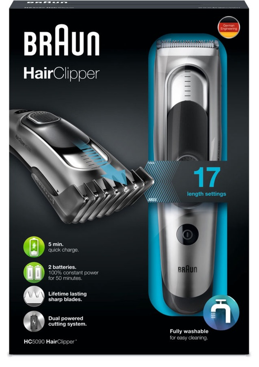 Plaukų kirpimo mašinėlė Braun HC5090
