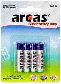 Arcas Super Heavy Duty Battery 4 x AAA