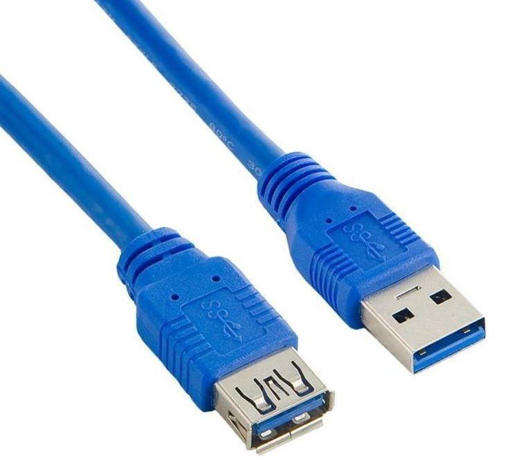 Akyga Cable USB / USB 1.8m Blue