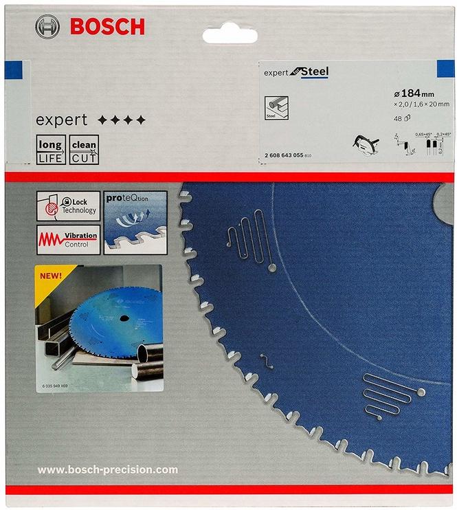 Bosch 2608643055 Circular Saw Blade Expert For Steel 184mm Blue