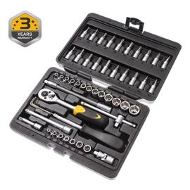 """Sukimo įrankių rinkinys Forte tools 216006/8303, 4-14 mm, 1/4"""", 51 vnt."""