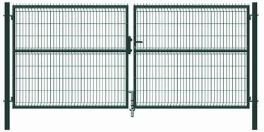 Garden Center Gate RAL6005 4000x1730mm Green