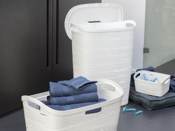 Curver Ribbon Laundry Hamper 49l White