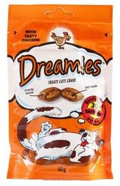 Skanėstai katėms Dreamies, su vištiena, 60 gr