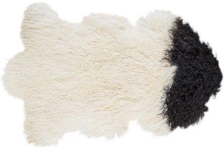 Home4you Lambskin Tibet 60x95cm Black&White