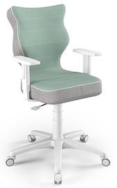 Детский стул Entelo Duo CR05, белый/зеленый, 400 мм x 1000 мм