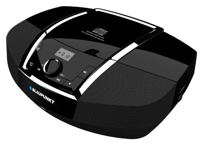 Magnetoola Blaupunkt BB12 Black, 4 W, must