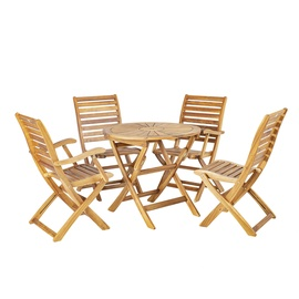 Home4you Cherry Garden Furniture Set Natural K133242
