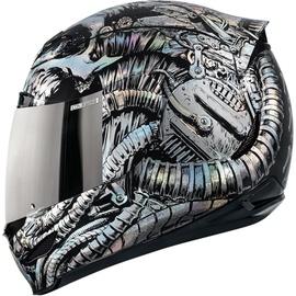 Icon Helmet AM Bioskull Multicolor L