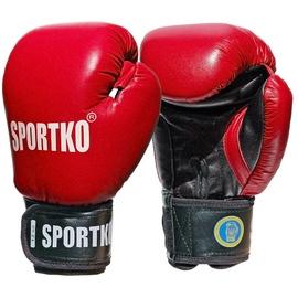 Boksa cimdi SportKO PK1, sarkana, 10 oz