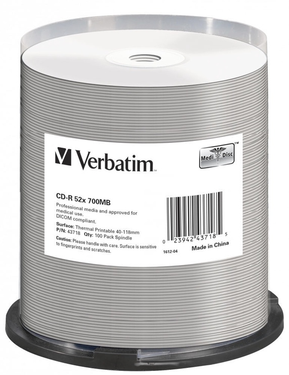 Накопитель данных Verbatim 100x 700MB CD-R 52x 43718
