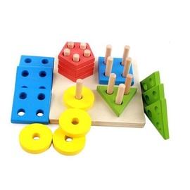 Various Wood Shape Puzzle 15x15x5.5cm