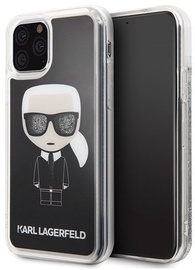 Karl Lagerfeld Iconic Glitter Back Case For Apple iPhone 11 Pro Max Black