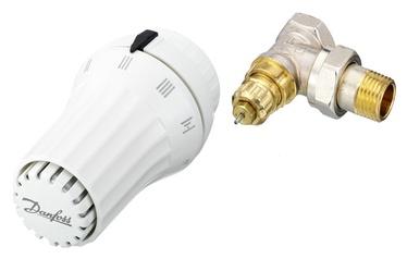 """Termostatinė galvutė ir ventilis Danfoss 013G5093, kampinis, ½"""""""
