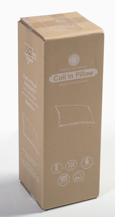 Home4you Serenity Pillow w/ Mini Pocket Coil System 50x60cm White