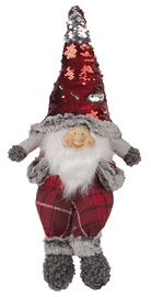Home4you Sitting Santa Red Glitter 43cm