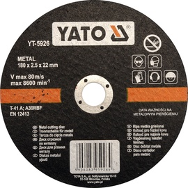 Yato YT-5926 Metal Cutting Disc 180mm