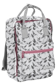 Paso BeUniq Kolibri II School Backpack w/ Pencil Case & Wallet Grey