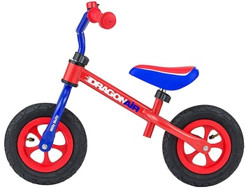 Vaikiškas dviratis Milly Mally Dragon Air Balance Bike Red Blue 2794