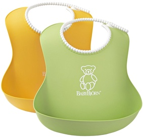 BabyBjorn Soft Bib 2-Pack Green/Yellow 046203