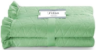 AmeliaHome Tilia Bed Coverlet Mint 170x270cm