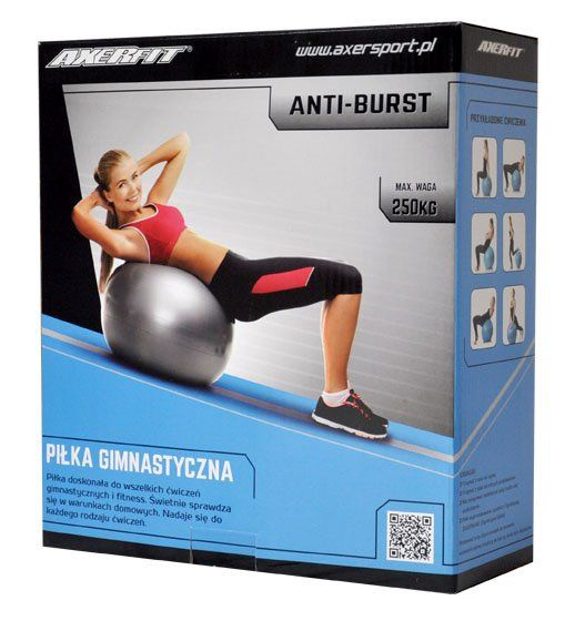 Axer Sport Anti Burst Gym Ball 75cm Purple