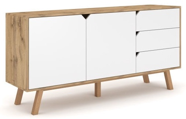 Kumode Vivaldi Meble Tokio TK2 Gold Craft Oak/White Mat, 164x42x80 cm