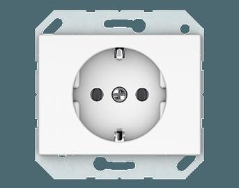 Kištukinis lizdas Vilma XP500, su įžem, baltos sp.