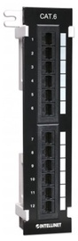 Intellinet Patch Panel UTP CAT 6 RJ45 x 12 Black