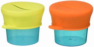 Boon Snug Snack Containers And Lids Orange Multi 2pcs B11125
