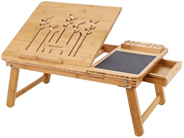 Zole Songmics Bamboo Laptop Desk 55x35x23cm