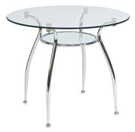 Signal Meble Finezja A Table 90x90cm Tempered Glass