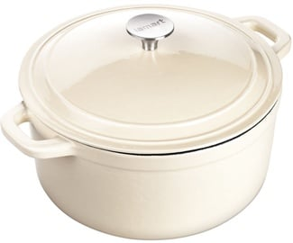 Lamart Cast Iron Pot with Lid LT 1061 Cream
