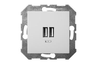 USB kroviklis Liregus Epsilon, baltos spalvos, be rėmelio