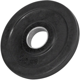 PX Sport Weight Disc Black Rubber 0.5kg