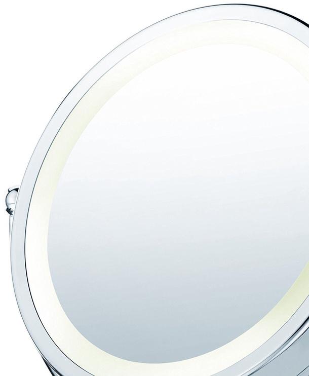 Veidrodis Beurer BS 69 Chrome, su apšvietimu, pastatomas, 25.5x39 cm