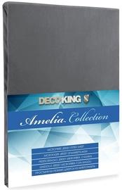 Palags DecoKing Amelia Grey, 160x200 cm, ar gumiju