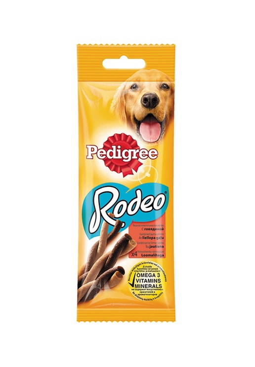 Skanėstai šunims Pedigree Rodeo, 70 gr